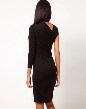 Image 2 ofAqua Magdaline Asymmetric Pencil Dress