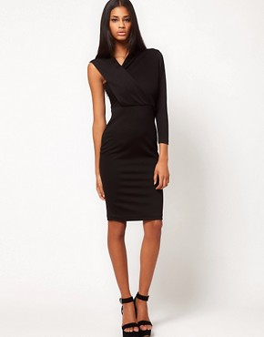 Image 4 ofAqua Magdaline Asymmetric Pencil Dress