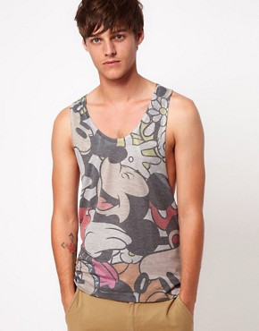 Image 1 ofASOS Vest With All Over Mickey Sublimation Print