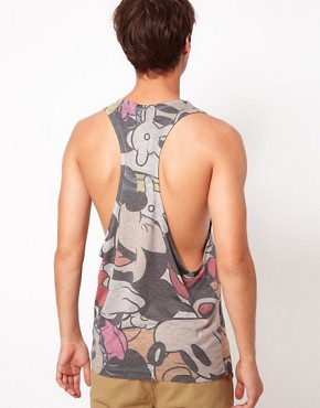 Image 2 ofASOS Vest With All Over Mickey Sublimation Print