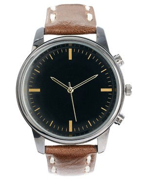 Image 1 ofRiver Island Earthy Stitch Watch