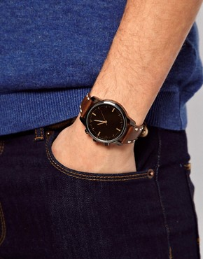 Image 3 ofRiver Island Earthy Stitch Watch