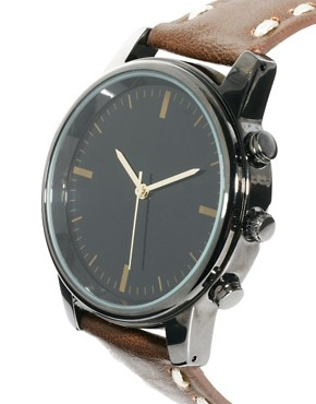 Image 4 ofRiver Island Earthy Stitch Watch