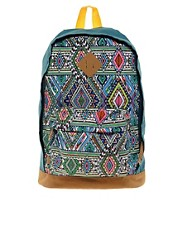 Mochila con panel azteca multicolor de ASOS
