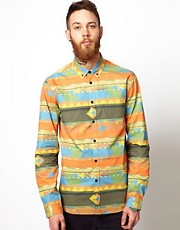 Libertine Libertine Shirt with Aztec Print