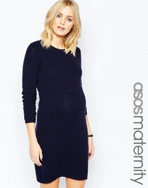 ASOS Maternity Knitted Jumper Dress With Elasticated Waist