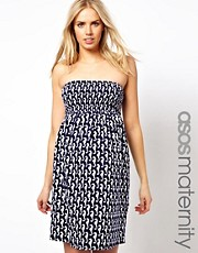 ASOS Maternity Jersey Beach Dress In Seahorse Print