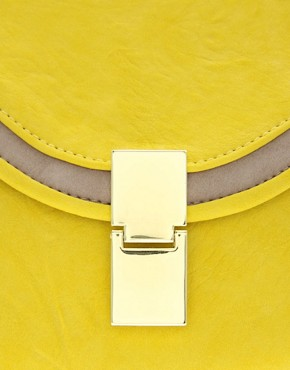 Image 2 ofASOS Boxy Flat Lock Clutch
