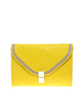 Image 1 ofASOS Boxy Flat Lock Clutch