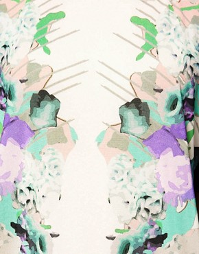 Image 3 ofASOS T-Shirt with Mirror Floral Print