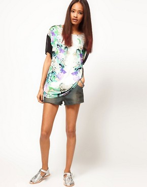 Image 4 ofASOS T-Shirt with Mirror Floral Print