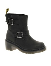 Dr Martens Diza Heeled Biker Boots