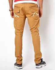 Evisu Chinos Show Workwear Straight Twill