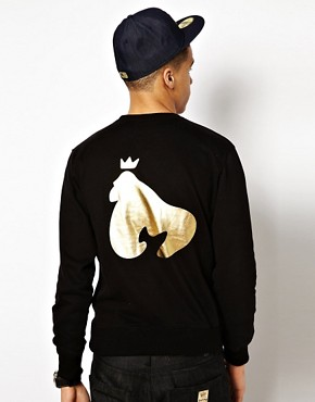 Image 2 ofMoney Crew Sweatshirt Sig Ape Foil Print