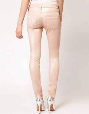 Image 2 ofFrench Connection Gold Metallic Skinny Jean