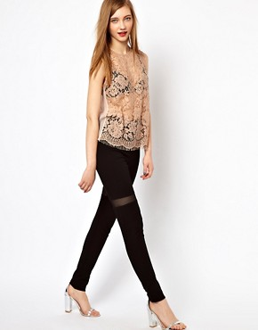 Image 1 ofMarkus Lupfer Mesh Insert Leggings