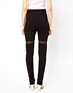 Image 2 ofMarkus Lupfer Mesh Insert Leggings
