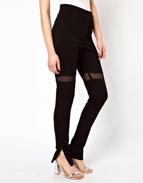 Image 4 ofMarkus Lupfer Mesh Insert Leggings