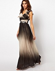 Opulence England Ombre Chiffon Floor Length Maxi Dress