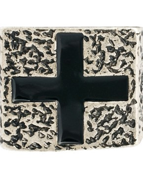 Image 2 ofASOS Chunky Cross Signet Ring