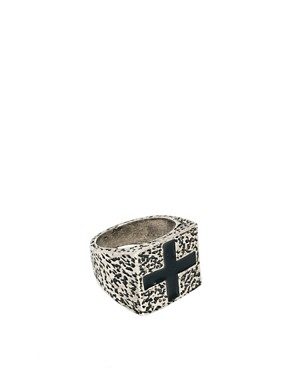 Image 1 ofASOS Chunky Cross Signet Ring