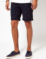 Carhartt  Johnson  Klassische Chino-Shorts aus Twill mit Entenmuster