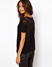 ASOS T-Shirt With Lace Yoke