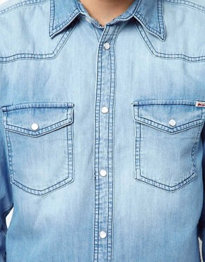 Image 3 ofJack &amp; Jones Western Denim Shirt