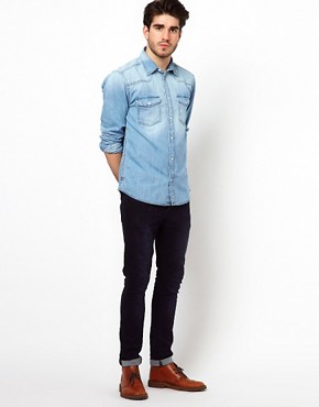 Image 4 ofJack &amp; Jones Western Denim Shirt