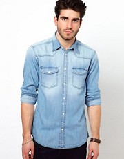 Jack &amp; Jones Western Denim Shirt