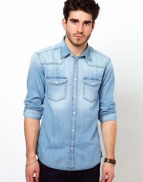 Image 1 ofJack &amp; Jones Western Denim Shirt