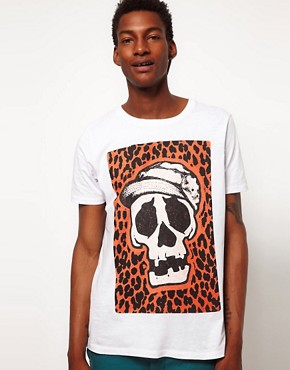Image 1 ofASOS T-Shirt With Skull Print