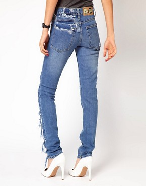 Image 2 ofCheap Monday Tight Repaired Skinny Jeans