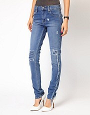 Cheap Monday Tight Repaired Skinny Jeans