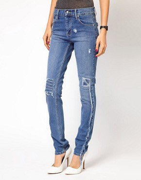 Image 1 ofCheap Monday Tight Repaired Skinny Jeans