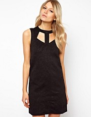 ASOS Shift In Embossed Scuba Dress