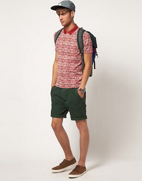 Image 4 ofRiver Island Polo Shirt with Aztec Print