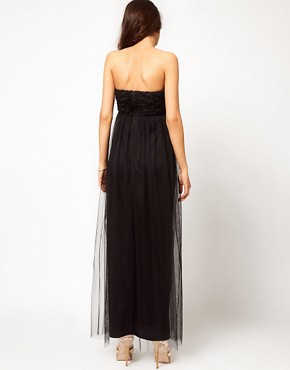 Image 2 ofASOS Maternity Exclusive Maxi Dress With Floral Applique