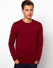 ASOS &ndash; Pullover mit Rundhalsausschnitt und Tasche