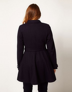 Image 2 ofASOS CURVE Fit And Flare Coat