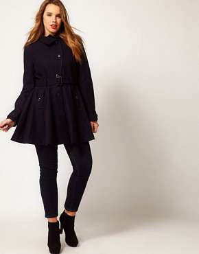 Image 4 ofASOS CURVE Fit And Flare Coat