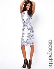 ASOS PETITE Bodycon Dress In Tattoo Print