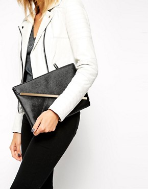 ASOS Slanted Bar Clutch Bag