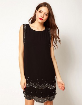 Image 1 ofTed Baker Embellished Flapper Dress