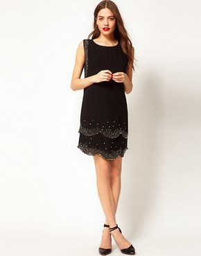 Image 4 ofTed Baker Embellished Flapper Dress