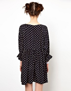 Image 2 ofThe WhitePepper Smock Dress in Polka Dot