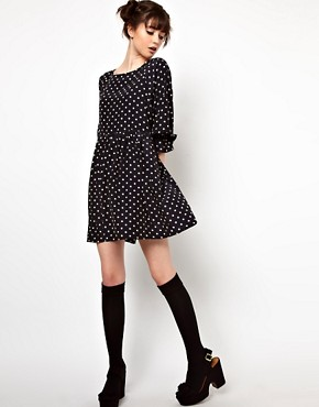 Image 4 ofThe WhitePepper Smock Dress in Polka Dot