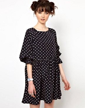 Image 1 ofThe WhitePepper Smock Dress in Polka Dot