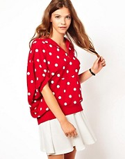 White Chocoolate Polka Dot Hoodie