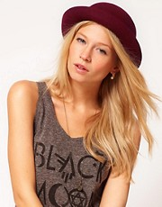 ASOS Roll Brim Felt Boater